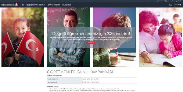 Türk Hava Yolları'ndan öğretmenlere müjde! Yüzde 25 indirim