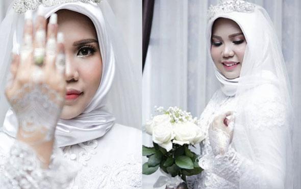 Damat olmadan düğün fotoğrafı çektirdi sebebi yürek yaktı..