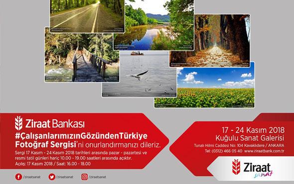 Ziraat Bankası Ankara Kuğulu Sanat Galerisi'nde çalışanların fotoğraf sergisi açıldı