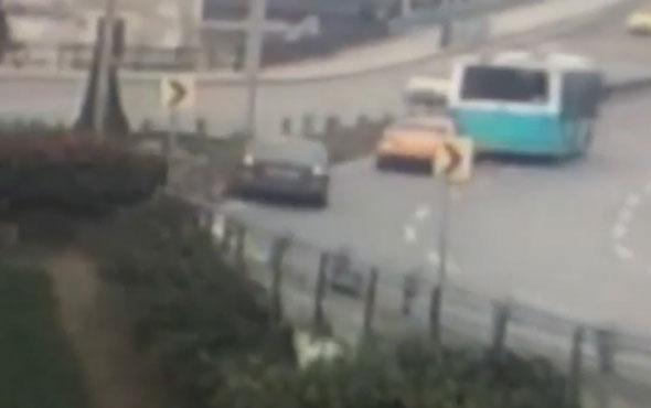 İstanbul'da korkunç kaza! Araç böyle takla attı