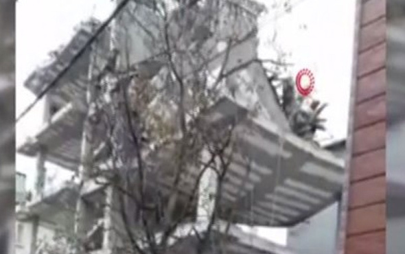 Tuzla'da inşaat halindeki binada çökme