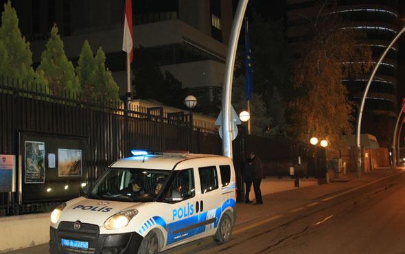 Büyükelçilik önünde silah sesleri Ankara'da hareketli gece