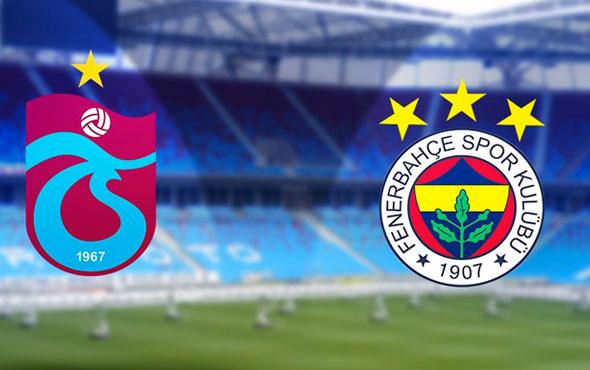 Trabzonspor-Fenerbahçe maçı muhtemel 11'ler