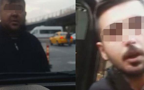 'UBER'ci taksici gerginliği! Böyle taciz ettiler