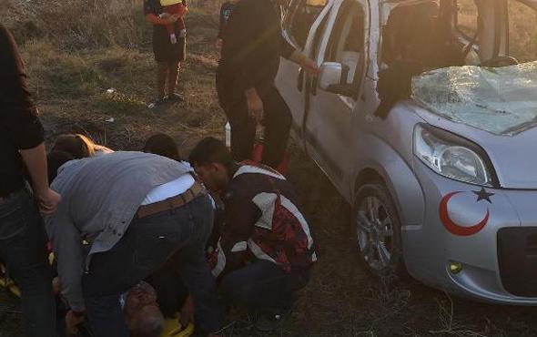 Adana'da otomobil şarampole uçtu: 8 yaralı