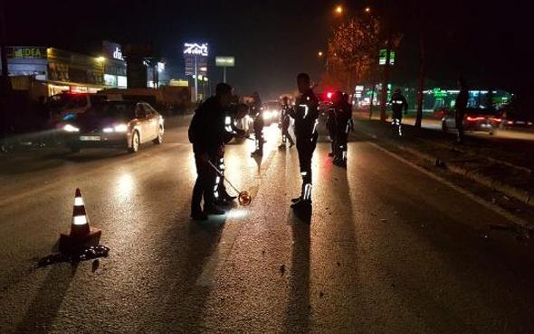 Düzce'de motosiklet yayalara daldı: 1 ölü 3 yaralı