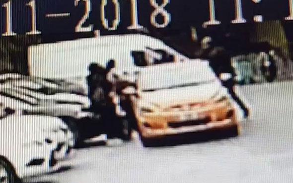 İstanbul'un göbeğinde taksici terörü kamerada