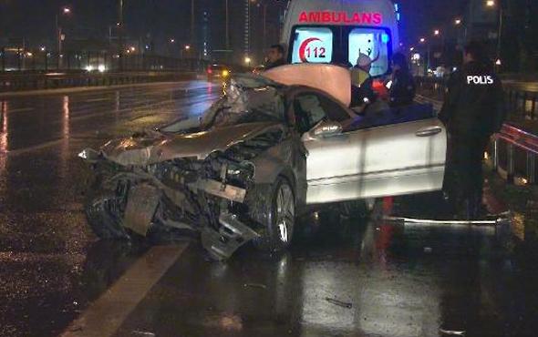 Kartal'da trafik kazası: 1 ağır yaralı