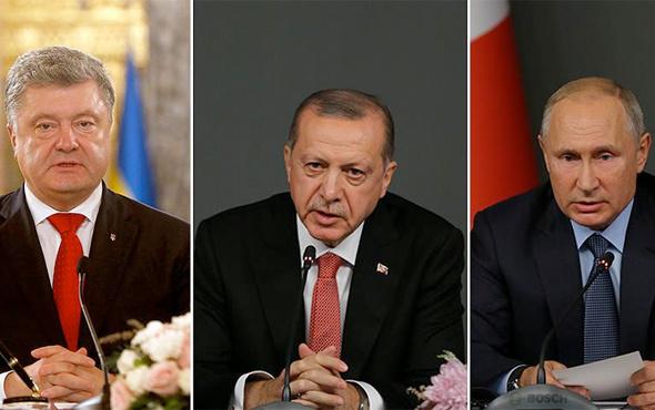 Erdoğan Putin ve Poroşenko ile görüştü