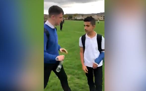 Öğrencilerin Suriyeli mülteci çocuğa yaptığı zorbalık