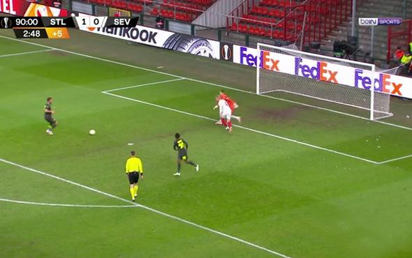 Bu gol nasıl kaçar! Akıllara zarar pozisyon