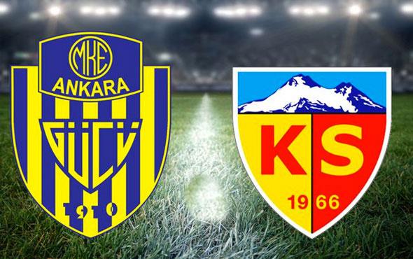 Ankaragücü Kayserispor maçının 11'leri