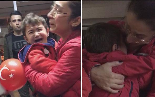 Trabzon'da yürek dağlayan görüntü! Çocuklarını böyle verdi
