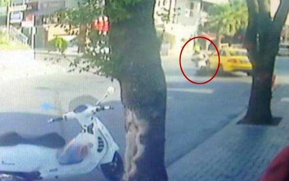 İstanbul'da feci kaza kameralara böyle yansıdı