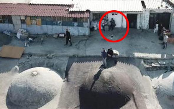 Kaçak kazı görüntülenince drone tüfekle nişan aldı