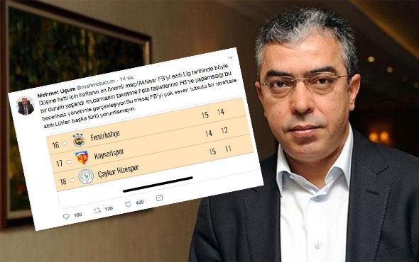 Cumhurbaşkanı Başdanışmanı'ndan olay Fenerbahçe tweeti! FETÖ bile...