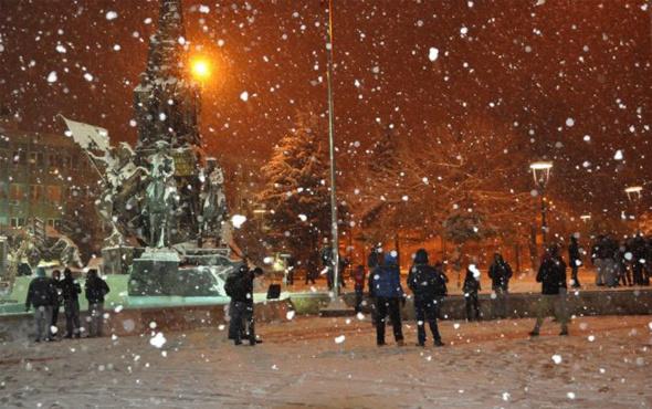 Eskişehir kar başladı güncel hava durumu tahmini fena!