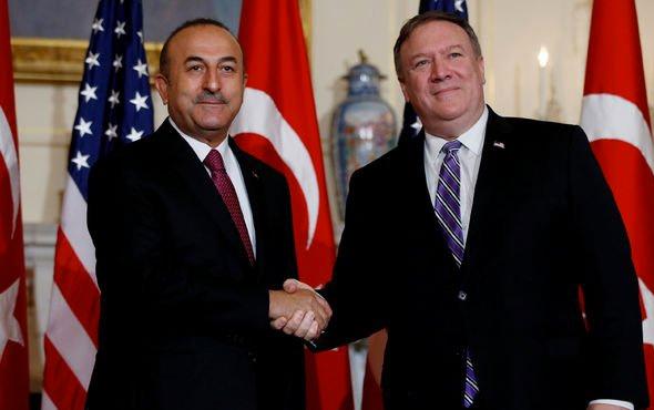 Bakan Çavuşoğlu ile Pompeo Suriye'yi görüştü