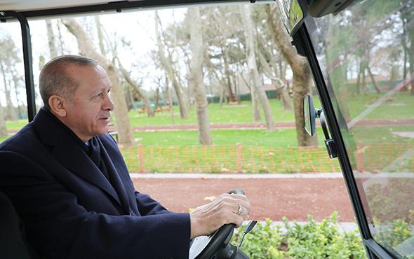 Erdoğan Esenler'de Millet Bahçesi'ni gezdi