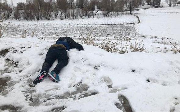 Van'da yürek burkan manzara donarak ölmüş olarak  bulundu