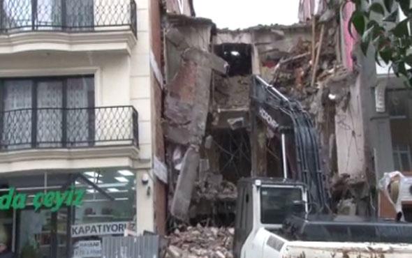 Şişli'de yıkım sırasında dehşet!
