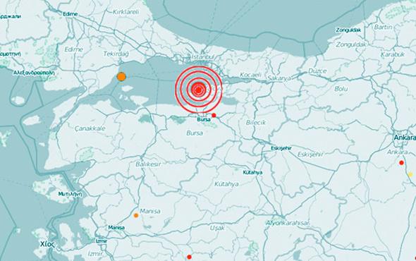 Yalova'da  24 saatte 22 deprem meydana geldi