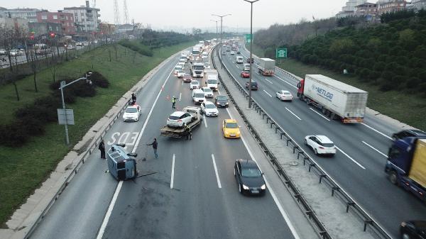 TEM'de makas terörü: Trafik kilitlendi!