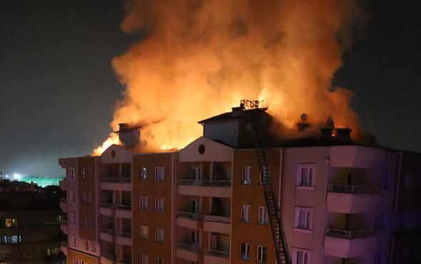 Bursa'da 7 katlı apartmanda yangın