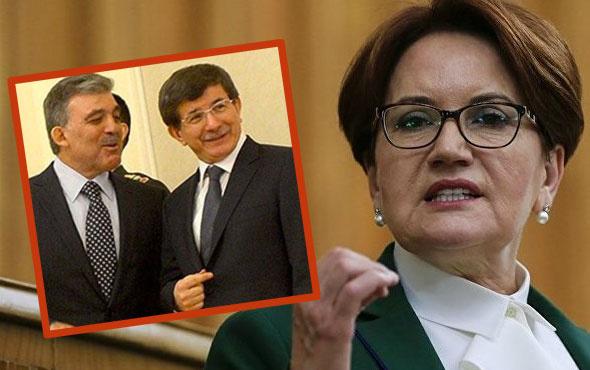 Abdullah Gül ile Davutoğlu yeni parti kuracak mı Meral Akşener ne dedi?