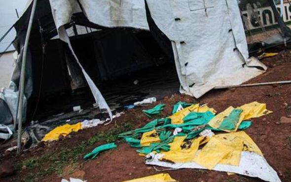 Saldırının ardından ebola şüphelileri firar etti