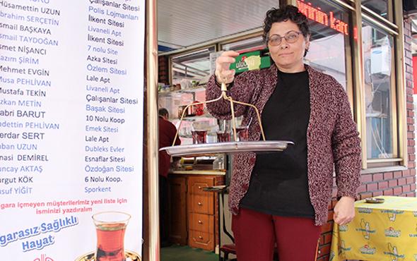 Derince'de bu çay ocağında sigarayı bırakan çay ücretsiz