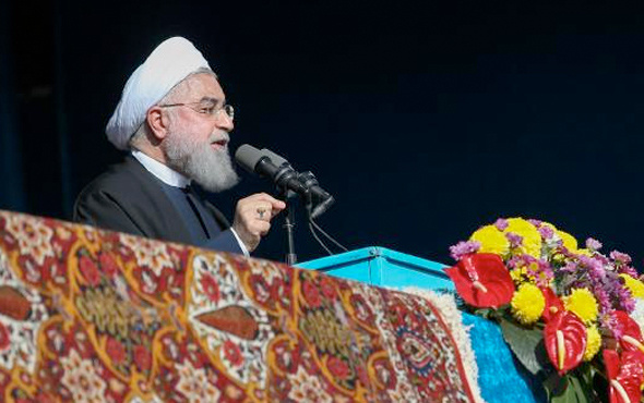 Ruhani'den sert uyarı: ABD İran'ın petrol ihracatını engellerse