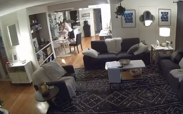 Korkunç deprem anları güvenlik kamerasında!