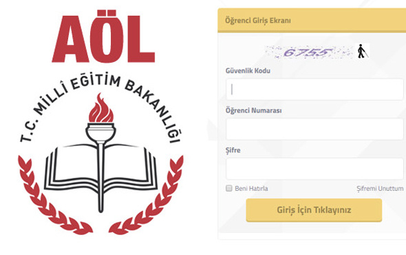 AÖL sınav giriş yeri öğrenme sayfası TC ile giriş MEB ekranı