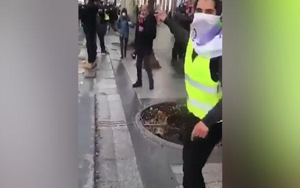 Fransa'da TRT ekibine tepki!