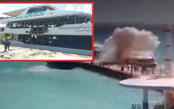 Feribotta patlama oldu, yolcular denize savruldu