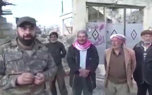 Afrinli sivillerden ÖSO'ya teşekkür