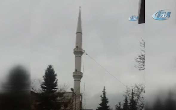 Caminin minaresi böyle yıkıldı