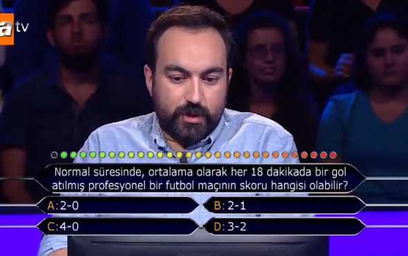 Kim Milyoner Olmak İster? yarışmasında gecenin sorusu