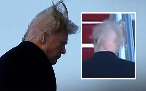 Alay konusu oldu! Trump rüzgarın azizliğine uğradı