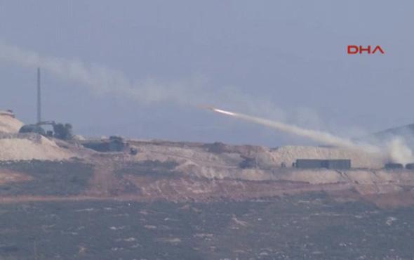Afrin'deki hedefler ÇNRA ile vurulma anı!