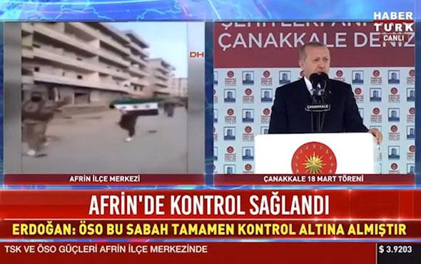 Cumhurbaşkanı Erdoğan müjdeyi verdi! Afrin semalarında artık...