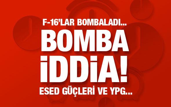 Bomba iddia! Türk jetleri Esed milislerini vurdu...