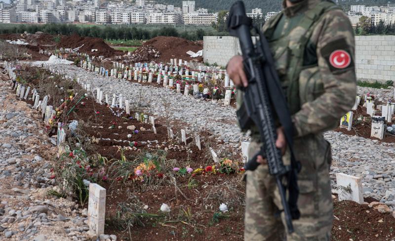 ÖSO Afrin'de YPG/PKK cephanesi buldu