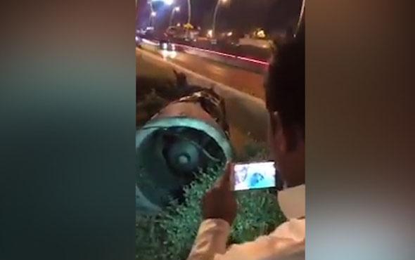 İşte Riyad'ı vuran füzenin görüntüleri...