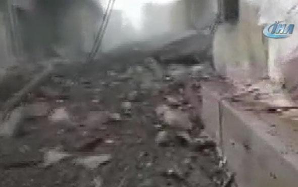 Bombalanan Cinderesi merkezi böyle görüntülendi