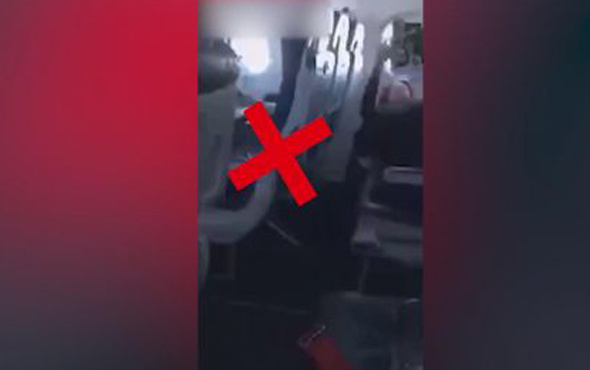 Uçakta iğrenç olay! Mastürbasyon...