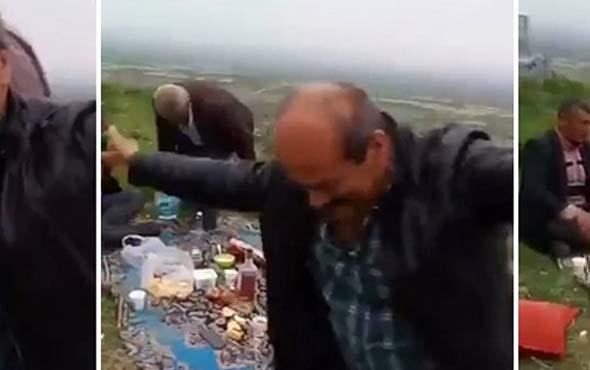 Alkolü fazla kaçırınca tepeden aşağı yuvarlanan adam