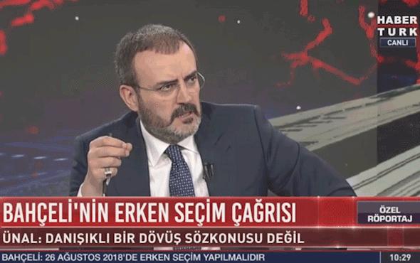 AK Parti sözcüsü Mahir Ünal'dan erken seçim açıklaması