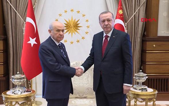 Kritik görüşme başladı Erdoğan - Bahçeli zirvesinden ilk görüntüler geldi